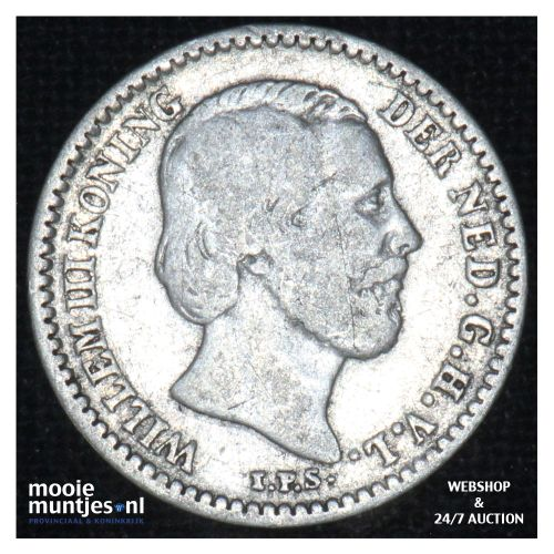 10 cent - Willem III - 1882 (kant B)