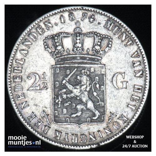 2½ gulden - Willem III - 1874 (kant A)