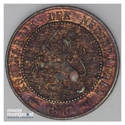 2½ cent - Willem III - 1877 (kant A)