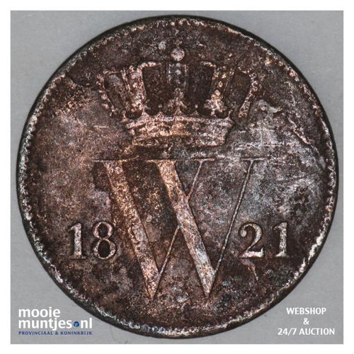 1 cent - Willem I - 1821 Utrecht (kant A)