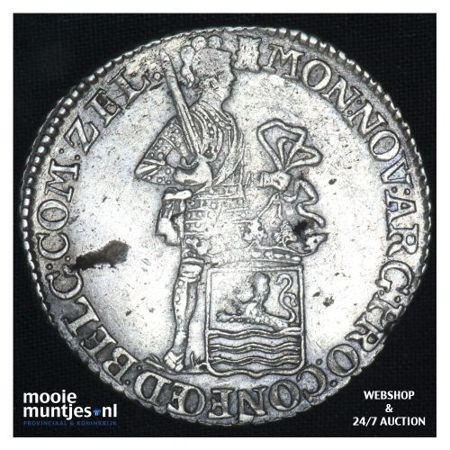 Zeeland - Zilveren dukaat - 1795 (kant B)