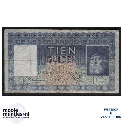 10 gulden  - 1933 (Mev. 40-1a / AV 29) (kant A)