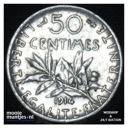 50 centimes - France 1914 (KM 854) (kant A)