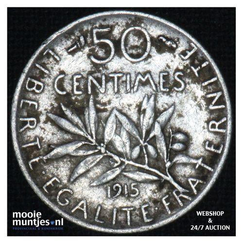 50 centimes - France 1915 (KM 854) (kant A)