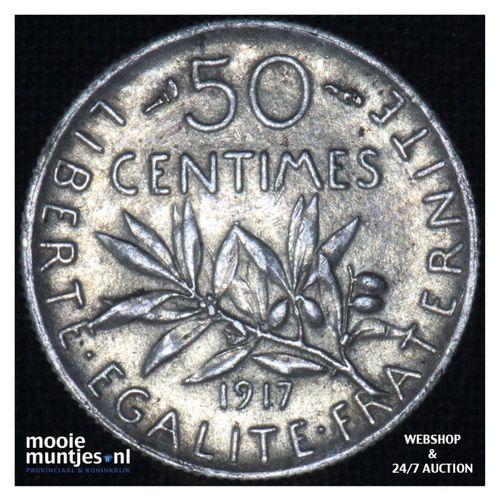 50 centimes - France 1917 (KM 854) (kant A)
