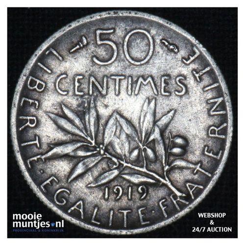 50 centimes - France 1919 (KM 854) (kant A)