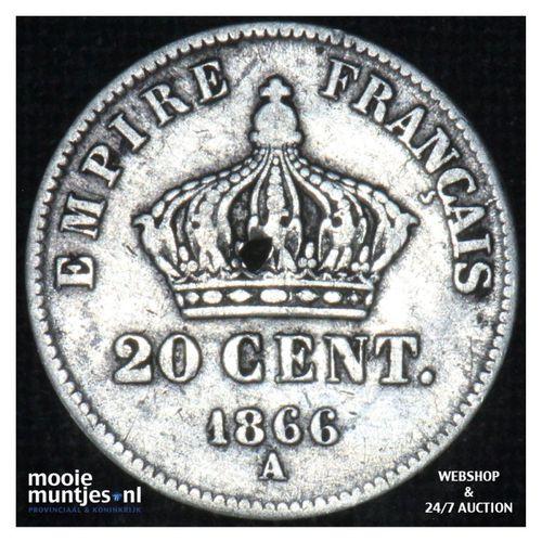 20 centimes - France 1866 A (KM 805.1) (kant A)