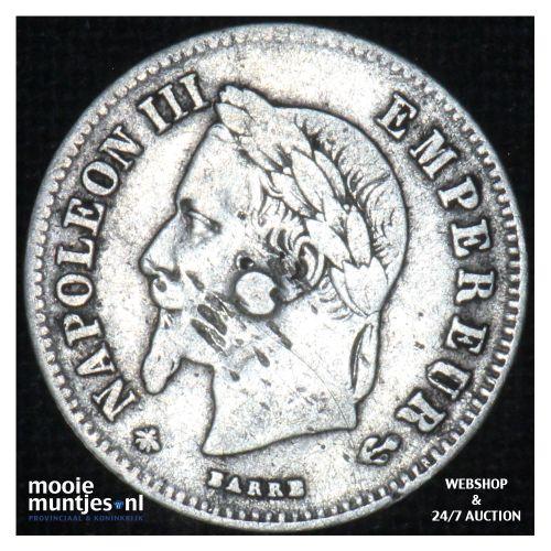 20 centimes - France 1866 A (KM 805.1) (kant B)