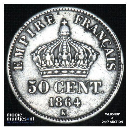 50 centimes - France 1864 K (KM 814.3) (kant A)