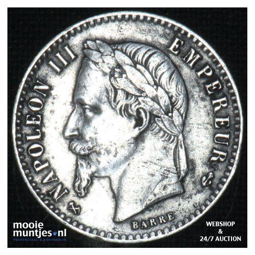 50 centimes - France 1864 K (KM 814.3) (kant B)