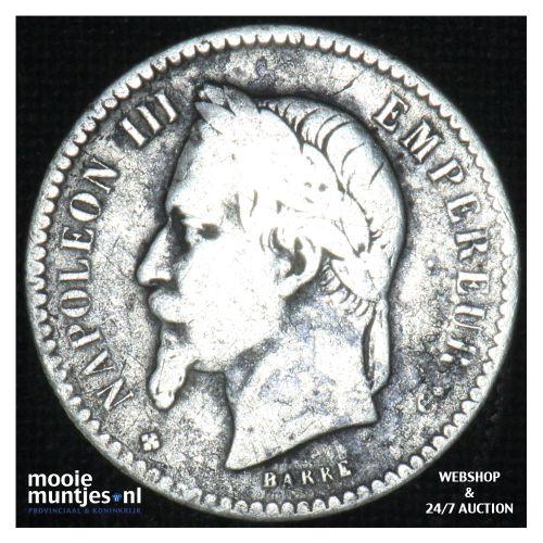 50 centimes - France 1864 BB (KM 814.2) (kant B)