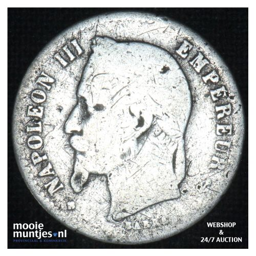 50 centimes - France 1867 BB (KM 814.2) (kant B)
