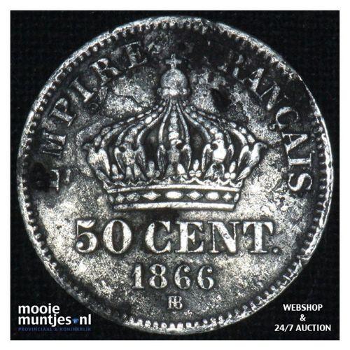 50 centimes - France 1866 BB (KM 814.2) (kant A)