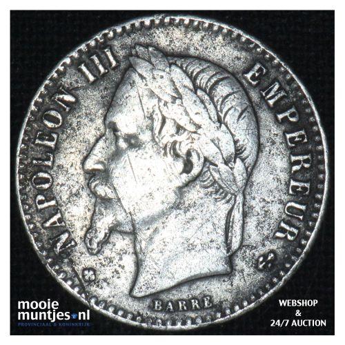 50 centimes - France 1866 BB (KM 814.2) (kant B)