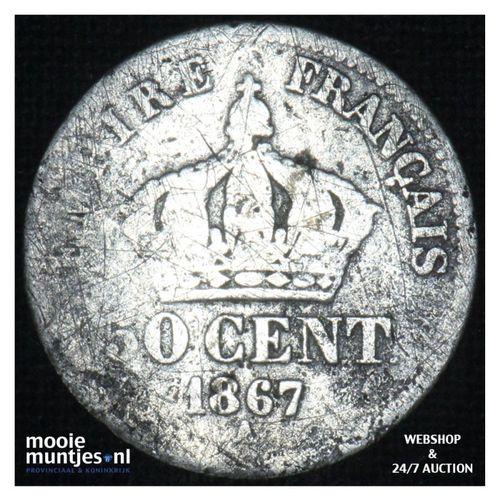 50 centimes - France 1867 A (KM 814.1) (kant A)