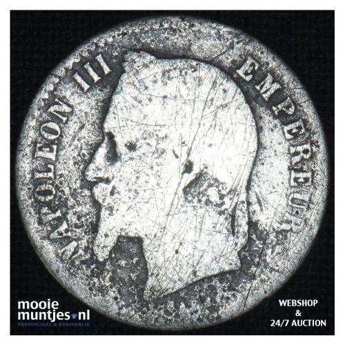50 centimes - France 1867 A (KM 814.1) (kant B)