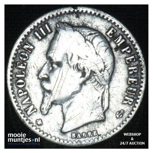 50 centimes - France 1864 A (KM 814.1) (kant B)