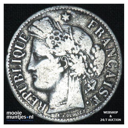 2 francs - France 1871 K (small K) (KM 817.2) (kant B)
