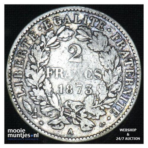 2 francs - France 1873  (KM 817.1) (kant A)