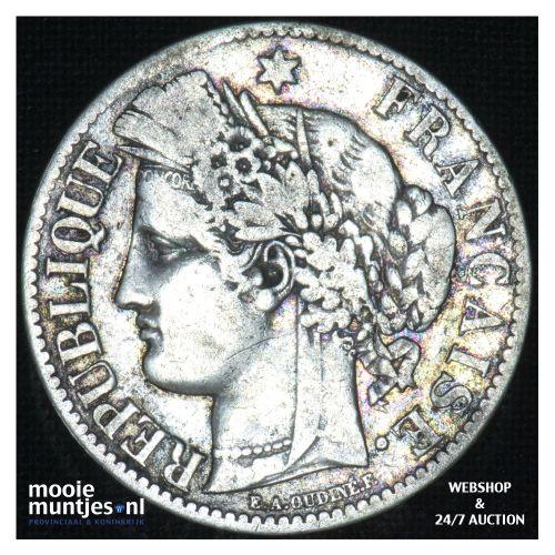 2 francs - France 1873  (KM 817.1) (kant B)
