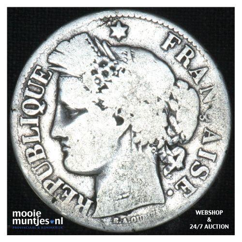 2 francs - France 1871 A (small A) (KM 817.1) (kant B)
