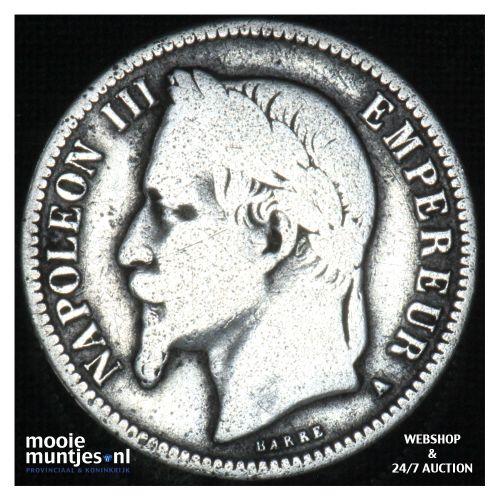 franc - France 1866 A (KM 806.1) (kant B)