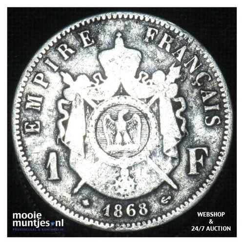 franc - France 1868 A (KM 806.1) (kant A)