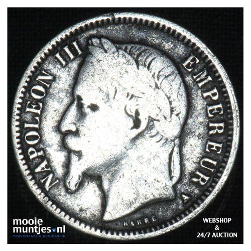 franc - France 1868 A (KM 806.1) (kant B)