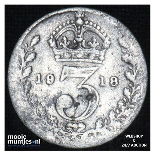 3 pence - Great Britain 1918 (KM 813) (kant A)