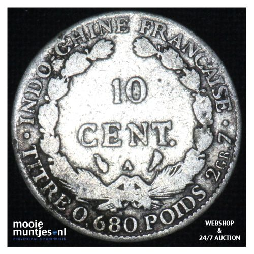 10 cents - French Indo-China 1922 A (KM 16.1) (kant B)