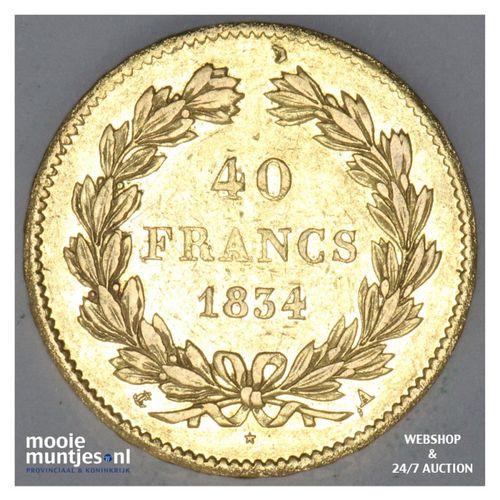 40 francs - France 1834 A (KM 747.1) (kant A)