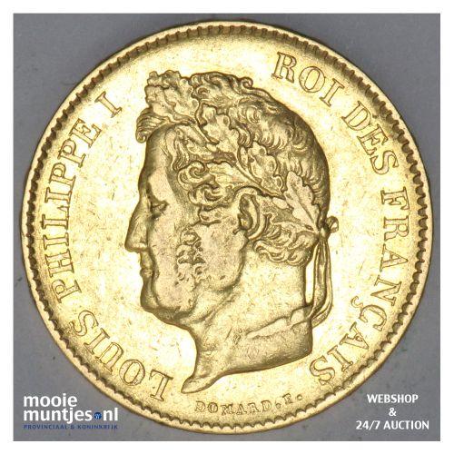 40 francs - France 1834 A (KM 747.1) (kant B)