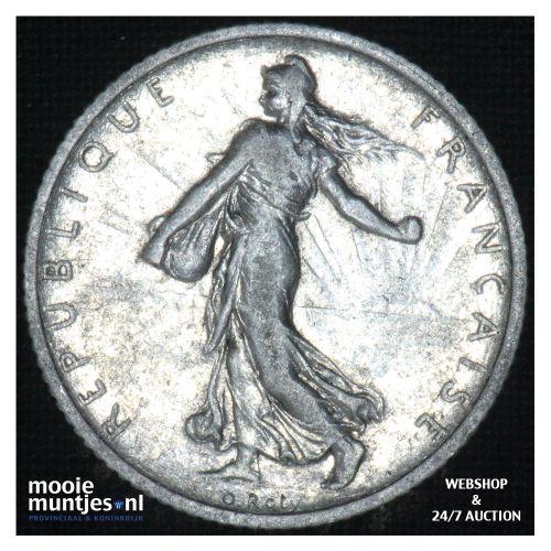 1 franc - France 1907 (KM 844.1) (kant B)