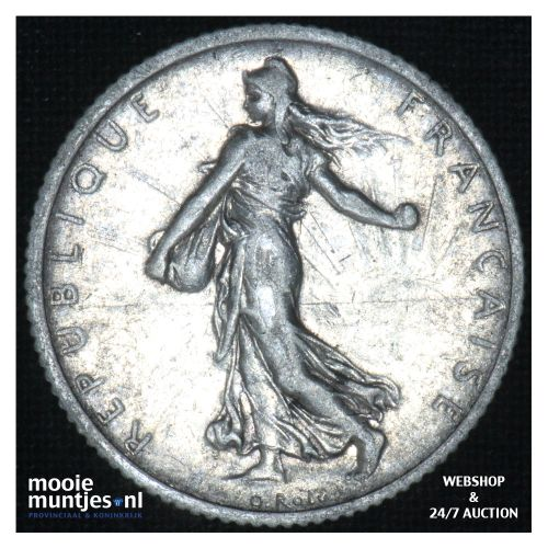 1 franc - France 1906 (KM 844.1) (kant B)