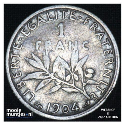 1 franc - France 1904 (KM 844.1) (kant A)