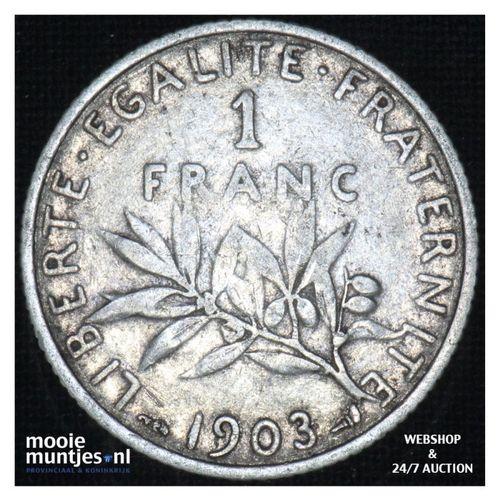 1 franc - France 1903 (KM 844.1) (kant A)