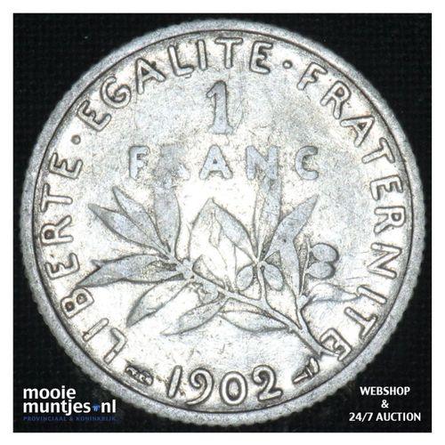 1 franc - France 1902 (KM 844.1) (kant A)
