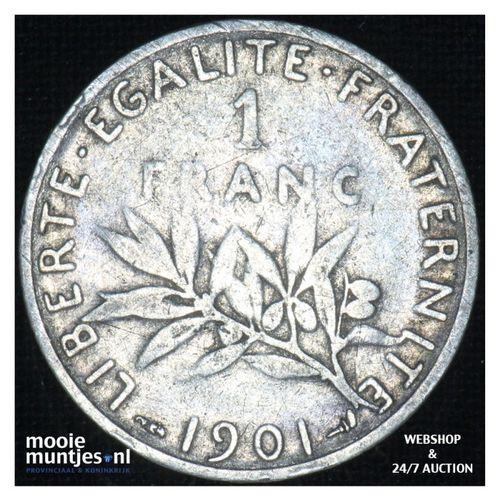 1 franc - France 1901 (KM 844.1) (kant A)