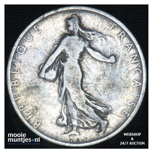 1 franc - France 1901 (KM 844.1) (kant B)