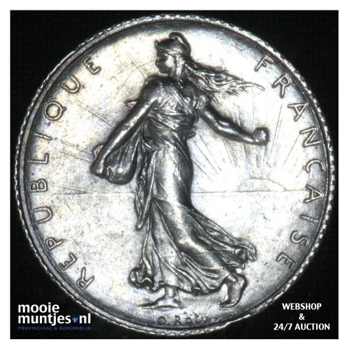 1 franc - France 1920 (KM 844.1) (kant B)