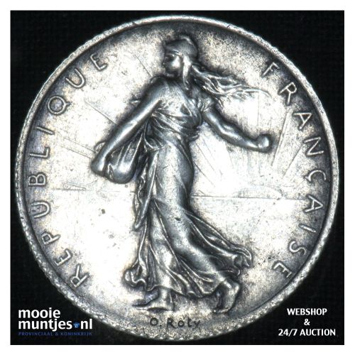 1 franc - France 1919 (KM 844.1) (kant B)
