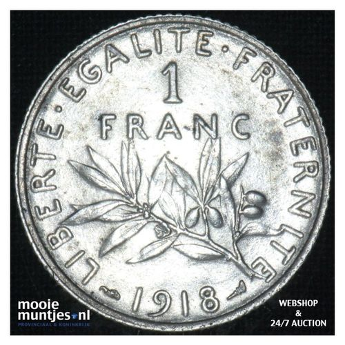 1 franc - France 1918 (KM 844.1) (kant A)