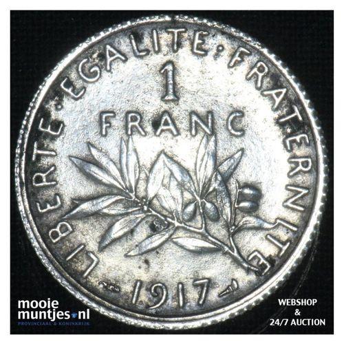 1 franc - France 1917 (KM 844.1) (kant A)