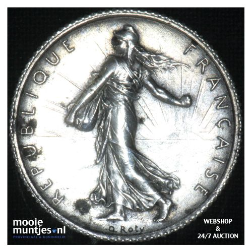 1 franc - France 1917 (KM 844.1) (kant B)