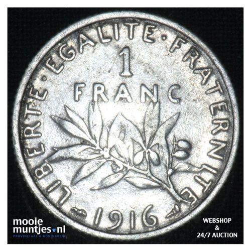 1 franc - France 1916 (KM 844.1) (kant A)