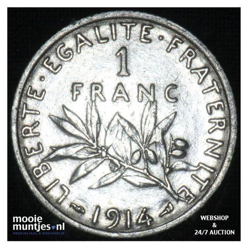 1 franc - France 1914 (KM 844.1) (kant A)