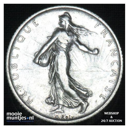 1 franc - France 1912 (KM 844.1) (kant B)