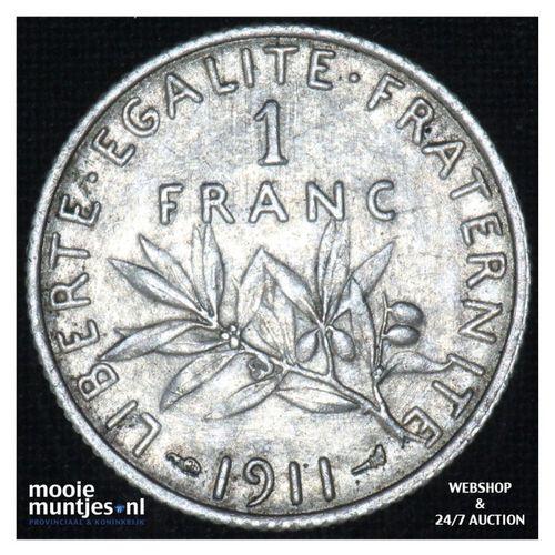 1 franc - France 1911 (KM 844.1) (kant A)