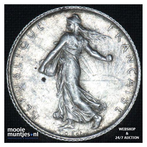 1 franc - France 1911 (KM 844.1) (kant B)
