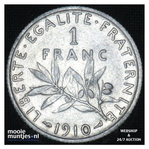 1 franc - France 1910 (KM 844.1) (kant A)